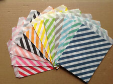 25 Favor Food Oil Paper Party Bags Colored Diagonal Striped Craft Bags For Party
