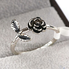 Fashion Flower Band Ring 18KGP Size 5.5,6,8