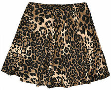 Ladies Animal Print Skater Skirt New Womens Flared Mini Skirts New Sizes 8-14