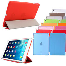 Crystal Clear Smart Transparent Stand Case Folio Case Cover For Apple iPad Air/5
