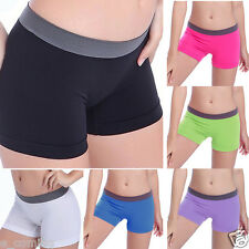 Summer Womens Shorts Pants Sports Gym Workout Waistband Skinny Yoga Pure Pants
