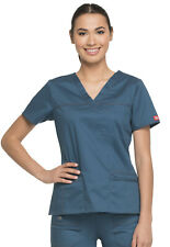 Scrub Dickies Gen Flex Youtility Mock Wrap Top 817355 Caribbean    FREE SHIPPING