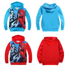 Spiderman/Batman Kids Boys Girls Hoodies Coat Unisex Clothes Outerwear Size 3-8Y