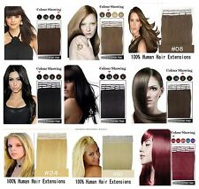 Remy Tape Weft Human Hair Extensions Tip-in,16'' 18'' 20'' 22'' 24'',Any Colors