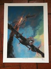 Lancaster Bomber Vs Bf-110 Limited Edition Aviation Print Keith Burns