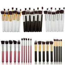 10pcs Pro Kabuki Cosmetic Make Up Powder Brushes Set Kit Blusher Foundation Tool
