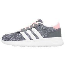 Adidas Neo Label Lite Racer W Grey Pink White Womens Running Shoes Sneakers