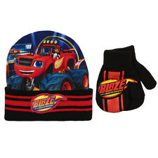 Blaze and the Monster Machines Licensed Baby Toddler Hat & Mitten Set