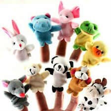 Hot 10pcs Child's mixed Lovely Finger animal Puppet Set soft toy learn play stor