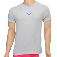 Emporio Armani Underwear Mens Fashion Stretch Cotton Crew Neck T-Shirt, Ice Grey
