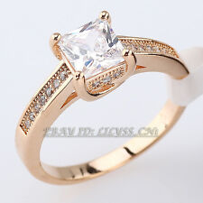 Fashion Wedding Band Ring 18KGP CZ Rhinestone Crystal Size 6-9