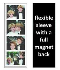 250 Photo Booth Magnetic Frames made in USA, Full Magnet, white/black, free ship