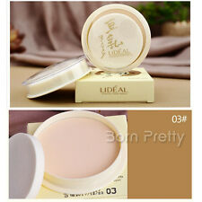 1Pc Light Skin Professional Compact Concealer Powder Pressed Foundation Powder