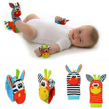 Xmas Gifts Infant Baby Wrist Watches Foot Socks Rattles Cute Finders Toys
