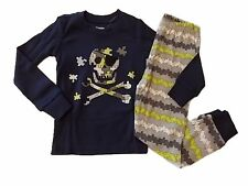 NWT Boy's Gymboree Skull long sleeve shirt & pants pajamas gymmies ~ 4 5 7 8 10