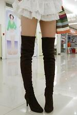 Womens Stiletto Heel Over The Knee Thigh High Boots Leg Knee Boots Cosplay shoes