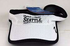 Brooks Unisex Rock And Roll Seattle Sunshield Visor White One Size Fits All