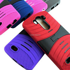 For LG G3 D850 D855 Rugged EXO Stretch Hybrid Hard Case Cover Accessory