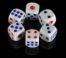 10 x Opaque Six Sided Spot Dice, Size 10mm 12mm 14mm - D6 RPG - Game Dice