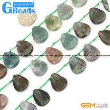 Natural Stone 13x18mm Leaf Shape Indian Agate Beads For Jewelry Making 25Pcs