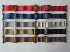 Genuine Leather Loop Watch Band Strap Magnetic Wristband Buckle For Apple Watch