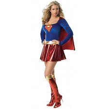 Ladies Superwoman  Girl Style Hero Fancy Dress Costume Outfit Sizes: 6 8 10 12