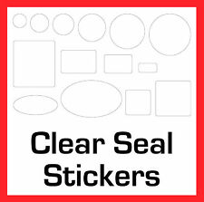 Wedding Favour / Gift - Permanent Transparent Clear Seal Stickers Sticky Labels