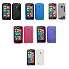 NOKIA LUMIA 530 S-LINE SILICONE GEL COVER CASE AND SCREEN PROTECTOR