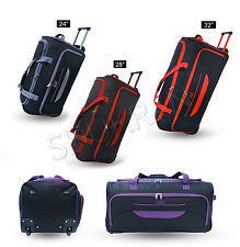 Medium Large Extra Large Lightweight Wheeled Holdall Trolley Holiday Sports Bag