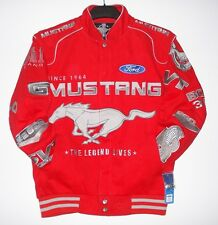 Authentic Mustang Racing Cotton Red Embroidered Jacket  JH Design New