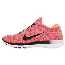 Wmns Nike Free TR Flyknit Orange Pink Womens Cross Training Shoes 71878-580