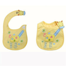 New BabyTowel Saliva Durable Waterproof Kids Cartoon 3 Layer Toddler Lunch Bibs