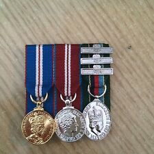 QGJM-QDJM-VRSM Medal choice of clasps FS and Mini court mounted medals