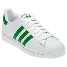 ADIDAS ORIGINALS SUPERSTAR 2 II W MEN'S SNEAKERS SHOES OVERSIZE WHITE GREEN