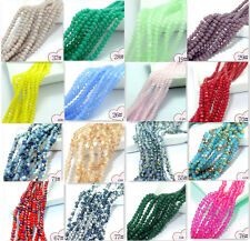 Wholesale 200pcs Faceted Glass Jade Crystal Charms Rondelle Loose Beads 3mm hot