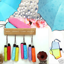 Lady Princess Magic Flowers Dome Parasol Sun/Rain Folding Umbrella Taschenschirm