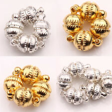 Round 5/10Sets Silver/ Golden White K Plated Magnetic Clasp & Hook Finding DIY