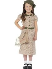 SALE! Child WW2 1940s World War Evacuee Girls Book Week Fancy Dress Kids Costume