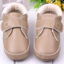 Baby Boy Soft Leather Sole Crib Shoes Toddler Infant Velcro Sneakers 0-18 Months