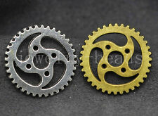 6/20/100pcs Antique Silver Vintage Steampunk Gears Jewelry Charm pendant 23mm