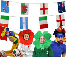 RUGBY FANCY DRESS PARTY ACCESSORIES BUNTING HATS FLAGS SUPPORTER EVENT PUB CLUBS
