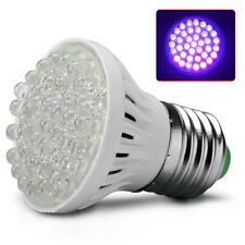 Ultra Bright E27 UV Ultraviolet Color Purple Light 38LED Light Bulb 110/220V