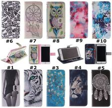 Fashion Pattern Stand Wallet Leather Case Cover Skin For Samsung Galaxy Phones