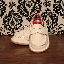 Wee Squeak White Boys Loafer Dressy Squeaky Shoes RUNS BIG, Sizes 3, 4, 5, 6, 7