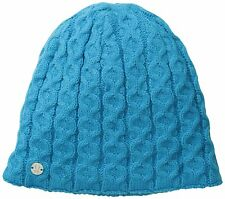 Spyder Women's Cable Ski Beanie Hat Cap with Fleece lining New