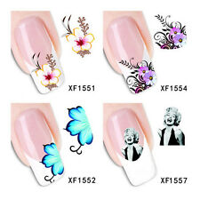 1 Sheet Nail Art Water Decals Transfers Plum Blossom Stickers Decoration