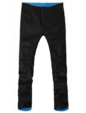 Mens Fashion Roll-up Plaid Casual Slim Fitted Pants Trousers