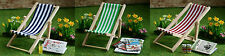 Folding Deck Chair Choice Of Colours, Dolls House Miniatures, 1.12 Scale