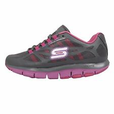 Skechers Liv-All Fired UP Grey Pink Womens Running Shoes Sneakers 99871GYPR