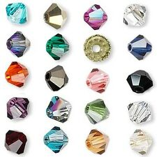 72 Swarovski Crystal 8mm Xilion Faceted Bicone Double Cone Loose Beads A-K